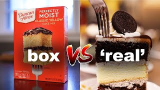 Boxed cake vs scratch cake — Why bakers can't beat SCIENCE