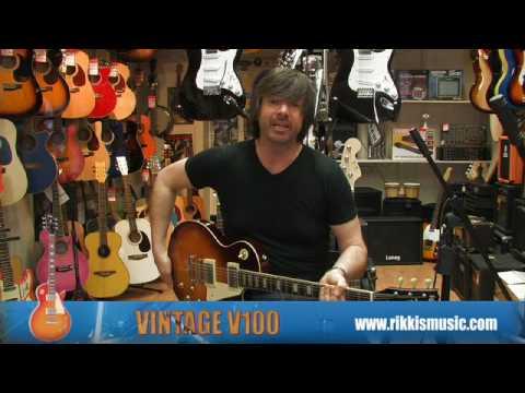 Vintage V100 Electric Guitar Review by Rikki's Music Shop, Edinburgh