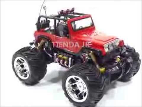 Jeep Carro Control Remoto Monster Juguete Para Ninos Luces Y Sonidos