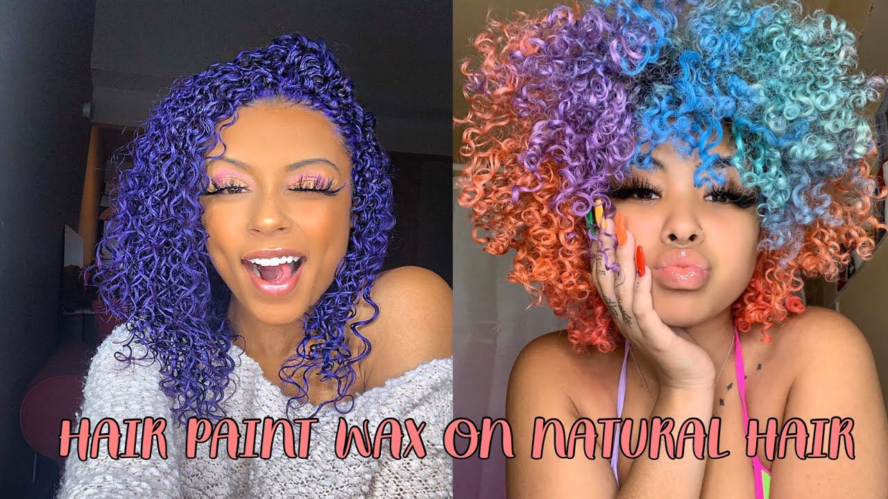 hair wax paint on natural hair