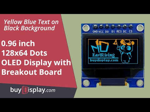 "Yellow/Blue 0.96"" OLED Display Module,with Example,Library for Arduino,Raspberry Pi"