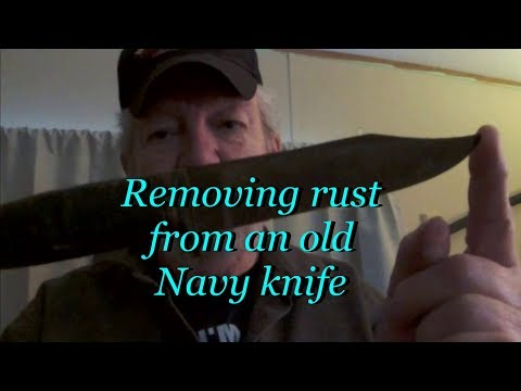 Removing rust from an old Navy knife
