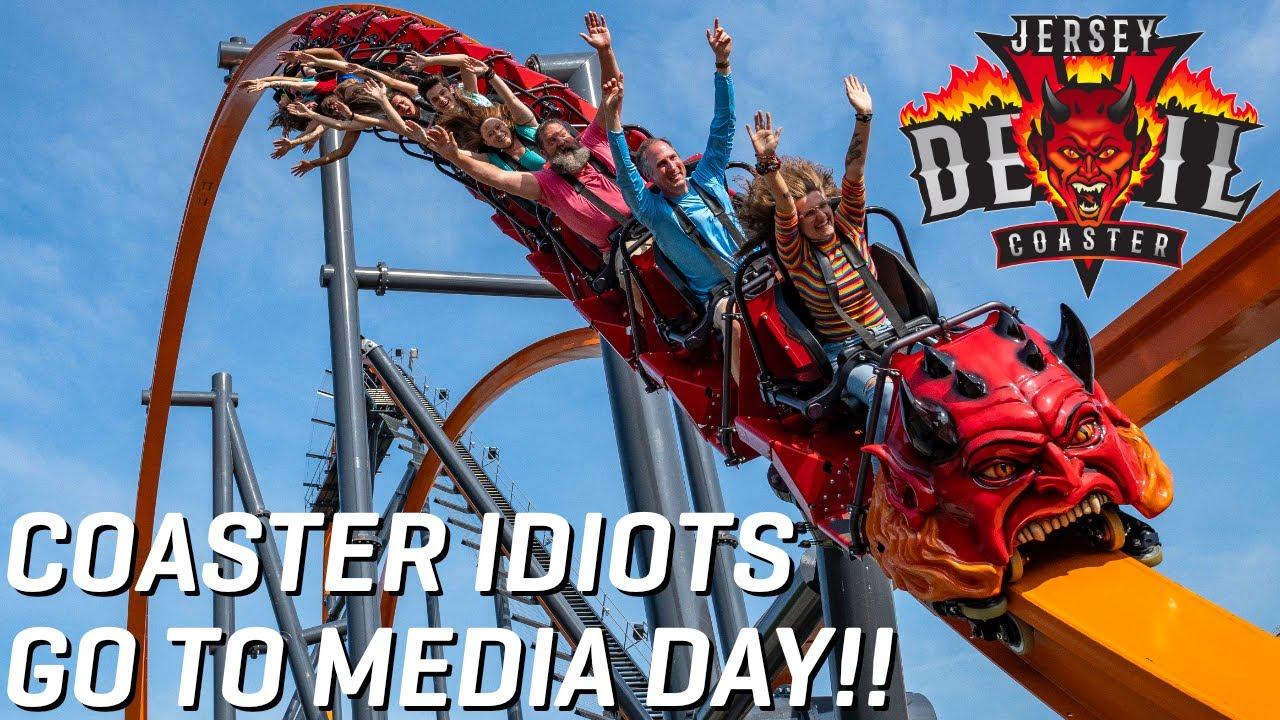 Coaster Idiots Go to Jersey Devil Coaster's Media Day!! - B Meh Steals ElToroRyan's Wife!!