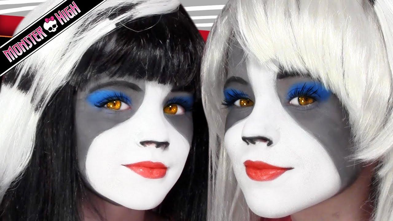 The werecat sisters monster high doll costume makeup tutorial for the werecat sisters monster high doll costume makeup tutorial for cosplay or halloween youtube baditri Gallery