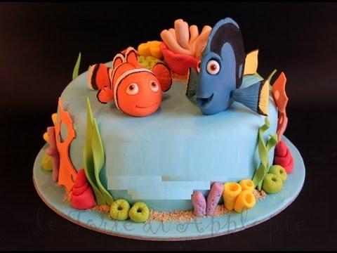 Torta Nemo,TORTA di COMPLEANNO FACILE   YouTube