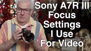 My Sony A7R III Face Detection Camera Settings