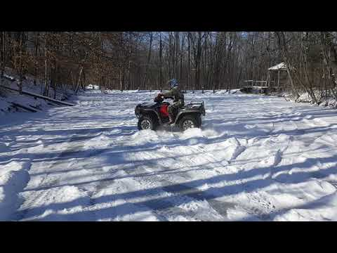 Drifting on ice on my front pond in the woods!