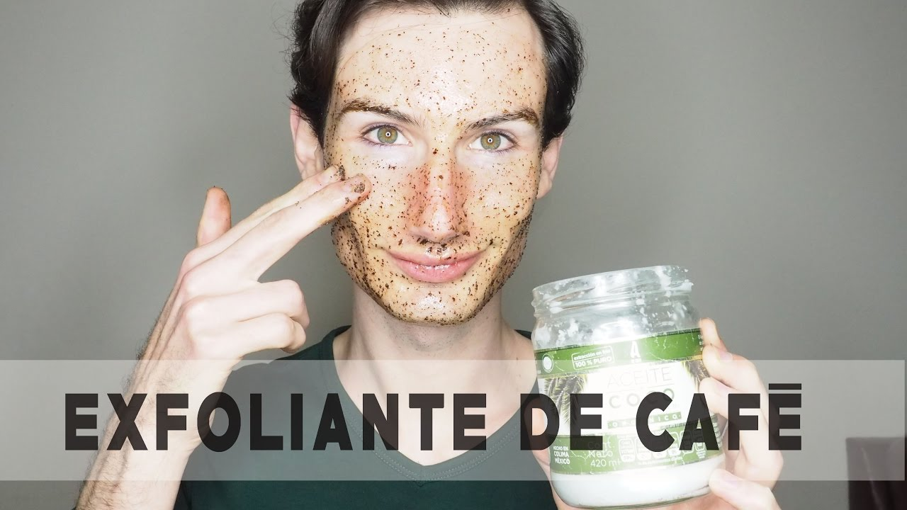 mascarilla de cafe y aceite de coco para la cara