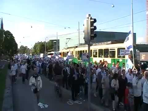 Pro-Israel Rally in Helsinki Finland Draws 2500 People
