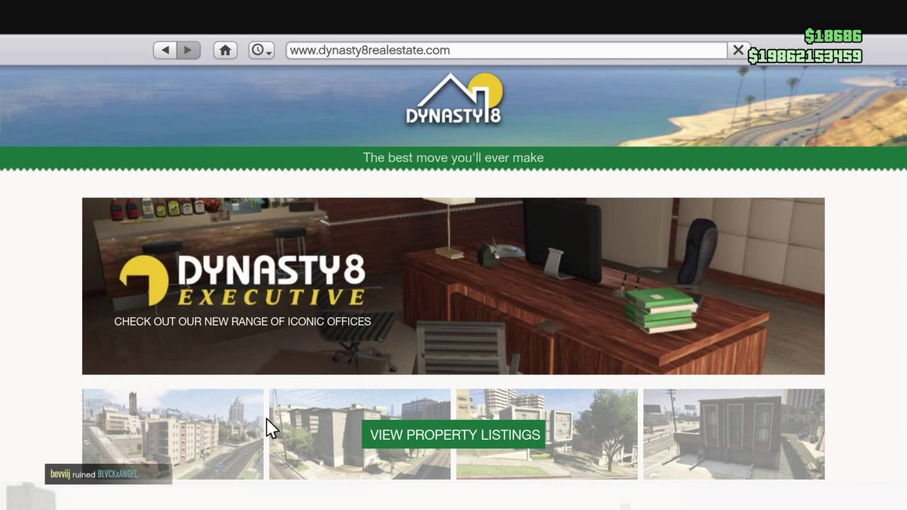 How to sell your property in gta5 online ps4 youtube for Fenetre sale gta 5