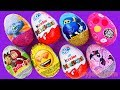 Learn Numbers With 8 Kinder Surprise Eggs Toys Trolls Masha E Orso Super Wings Smiley Faces For Kids