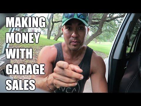 MAKING MONEY w GARAGE SALES. EARLY BIRDING