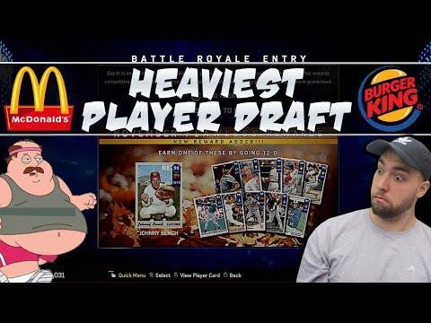 Heaviest Player Draft! MLB 17 Battle Royale Draft!