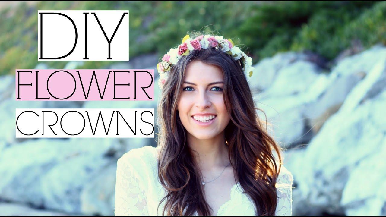 Diy tumblr flower crowns youtube diy tumblr flower crowns izmirmasajfo