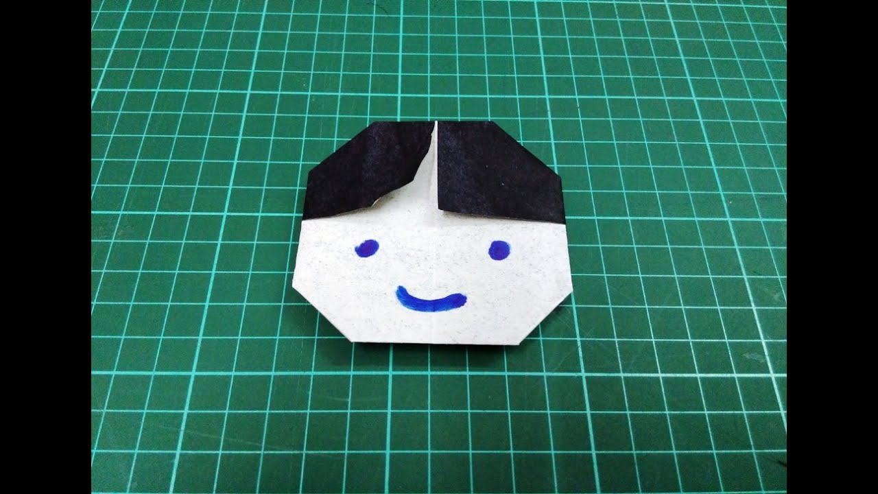 How To Make Origami Paper Boy Face
