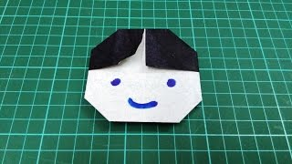 How to make origami paper boy face | Origami / Paper Folding Craft, Videos and Tutorials.