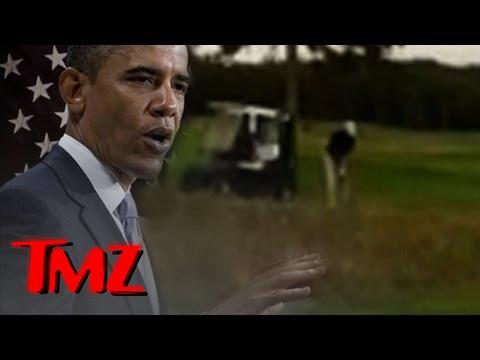 President Obama's Golf Shot -- SLICE! | TMZ