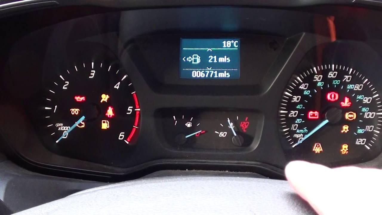 ford transit mk8 engine start dash warning light symbols [ 1280 x 720 Pixel ]