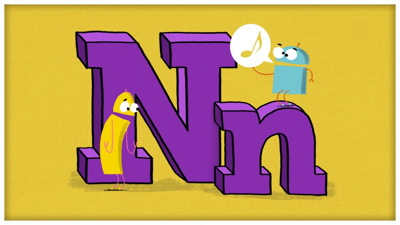 abc song the letter n you need an n by storybots youtube
