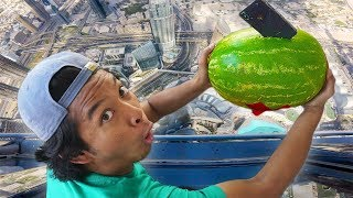 DROPPING WATERMELON AND IPHONE X!!