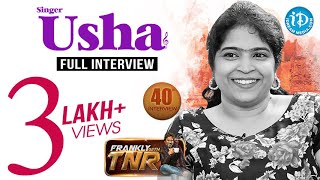 Singer Usha Exclusive Interview || Frankly With...