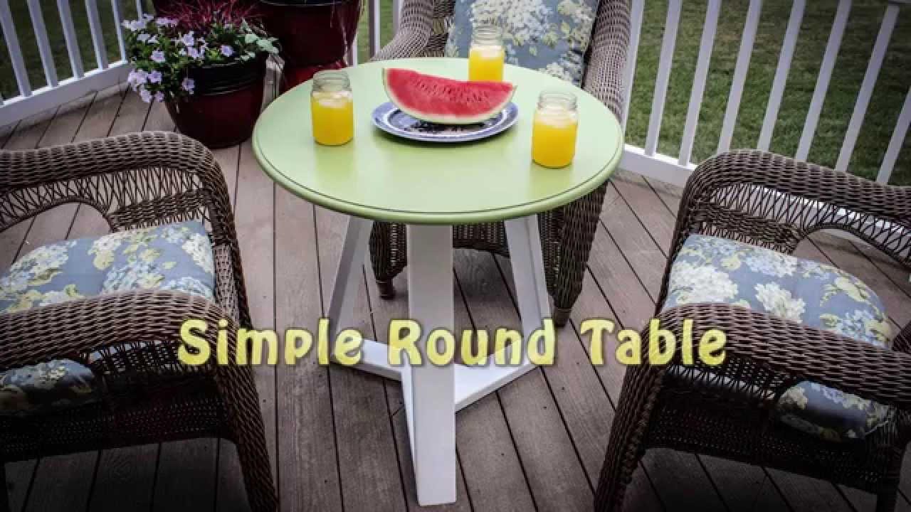 Simple Round Table Youtube