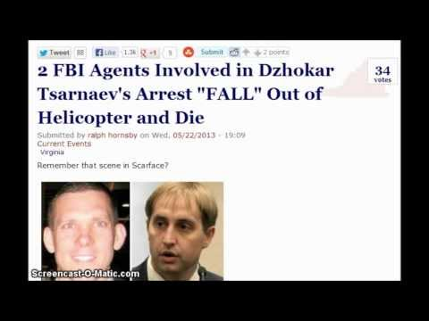 """2 FBI Agents Involved in Dzhokar Tsarnaev's Arrest """"FALL"""" Out of Helicopter and Die."""