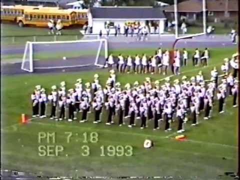 Wayne High School Marching Band Fri Sep 3 1993 pregame 1st home game