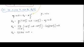 Example Particle Kinetics with normal and tangential coordinates (part 2/2) - Engineering Dynamics