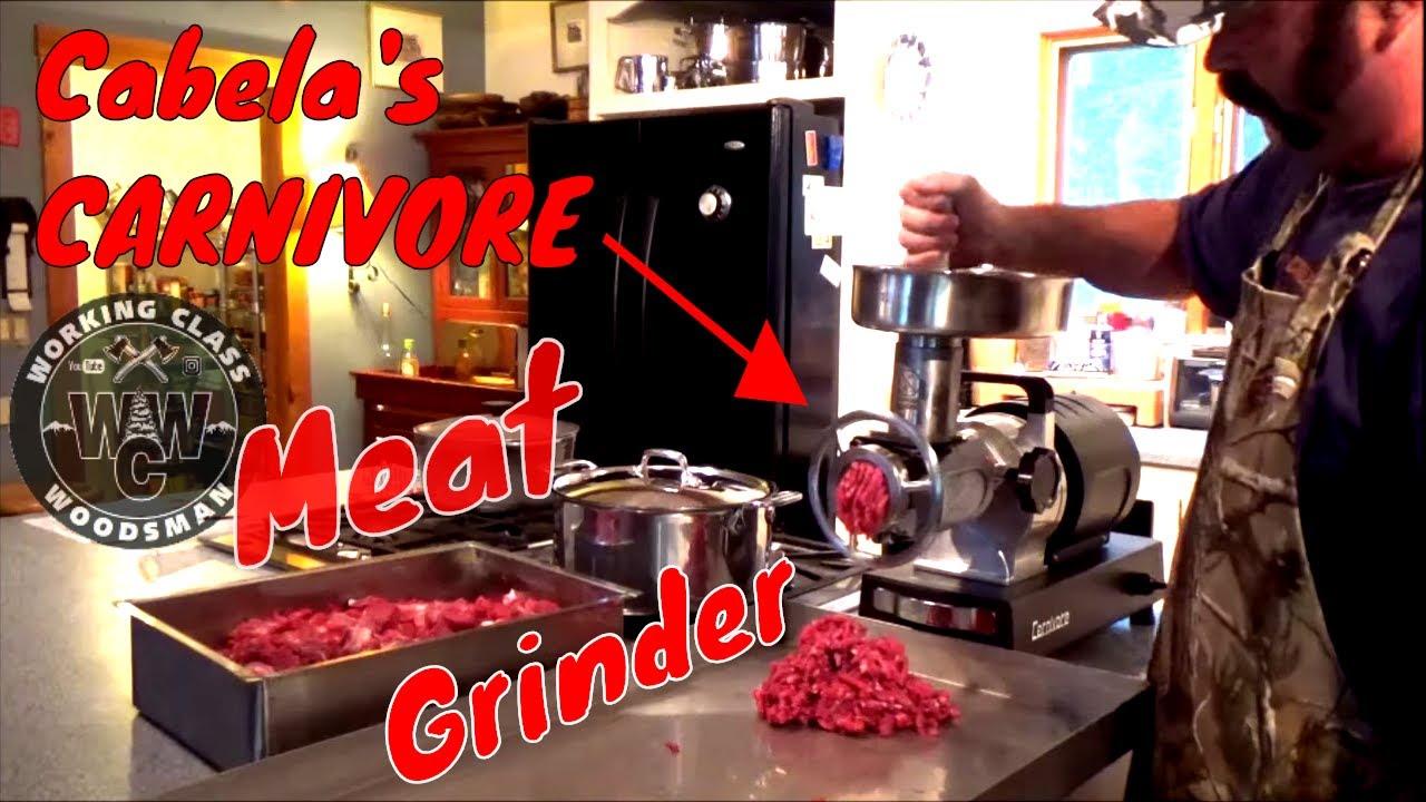Cabela's Carnivore Meat Grinder Demonstration (Commercial ...