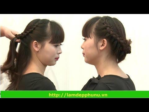 Hướng dẫn làm tóc:Kiểu búi sau dự tiệc lãng mạn tết vén quanh đầu 12