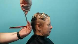Короткая стрижка на осветленных волосах Урок онлайн Академии Льва Кравца