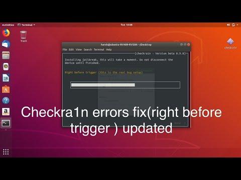 Stuck on right before trigger on checkra1n ubuntu/ GUI version of checkra1n on ubuntu