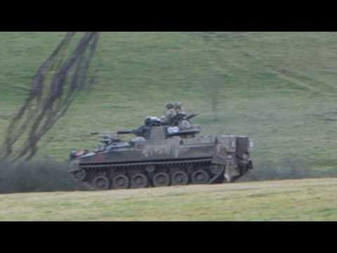 Tanks on the Salisbury Plain Training Area