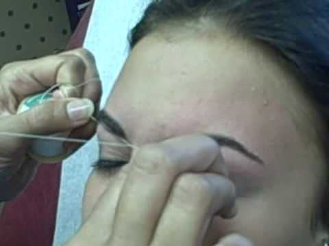 Indian Eyebrow Threading