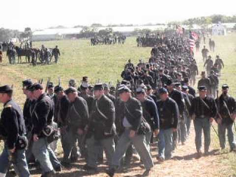 Union Troops Marching-Antietam 2012