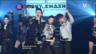 120308 Mnet Mcountdown TΟNY & SMASH - Get Your Swag On