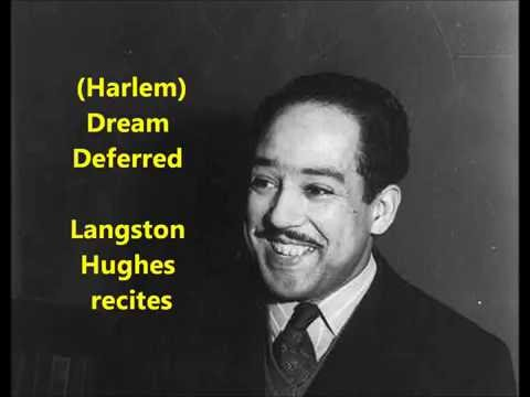 """Dream Deferred (Harlem)"" Langston Hughes recites his famous poem = Harlem Renaissance literature"