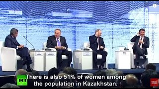 Putin and Nazarbayev troll CNN smartass on whether a woman can become president of Kazakhstan