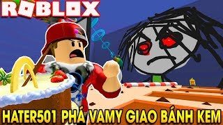 ROBLOX | Being attacked by Hater501 Virus when delivery birthday cake | Escape Ethangamer'S Studio | Vamy Tran