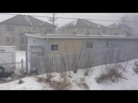 Snow storm - 14 march 2017 Canada