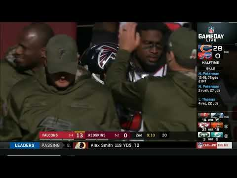 Big hit on Redskins Alex Smith, Washington vs Atlanta Falcons 1st half highlights