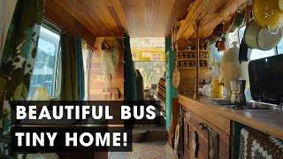 Family Living Simply in a Beautiful Off-the-Grid Bus