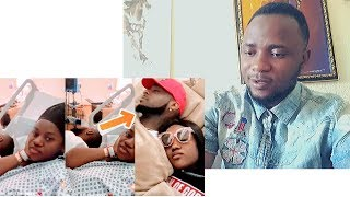 Davido Sleep Beside Chioma In The Hospital After Birth Of Their SON