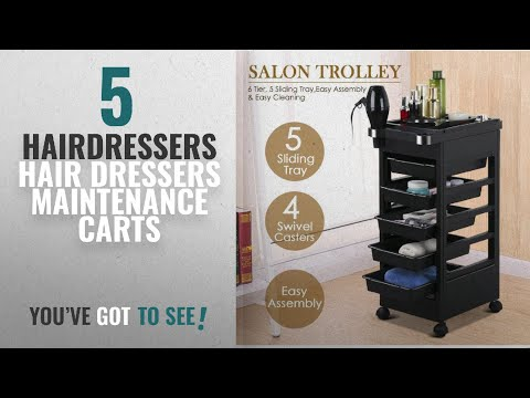 Top 10 Hairdressers Hair Dressers Maintenance Carts [2018]: Checknow Salon SPA Trolley Storage Cart