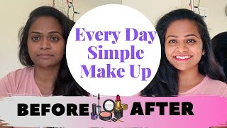Every Day Simple Makeup in Telugu || Using Very Few Products || Kalyani Ponnam