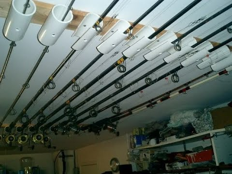 How to Build a Ceiling Rod Rack - YouTube