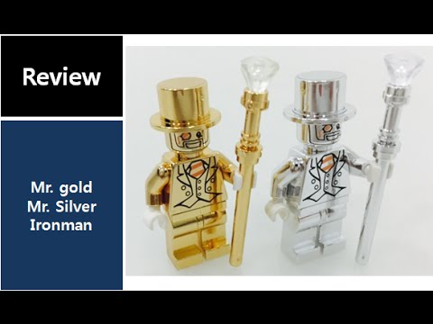Bling Bling lego a pair of silver gold figure custome - YouTube