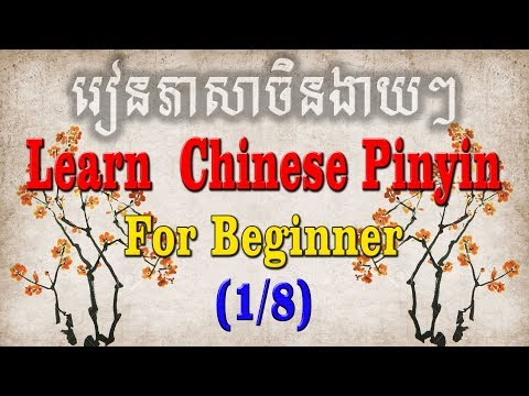 Learning Chinese Pin Yin Part 1 for beginner learner - រៀនភាសាចិនកំរិតដំបូង ភាគ​ ១