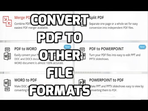 Convert PDF to Word, Excel, JPG and Other Formats - YouTube